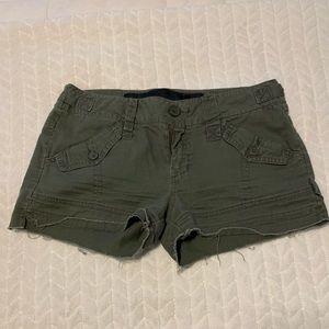Joe's khaki green shorts